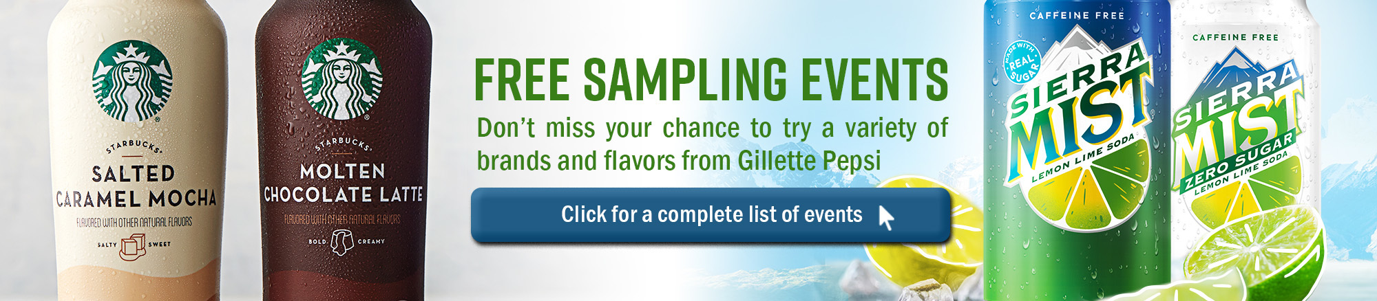 link to our sampling events for the month